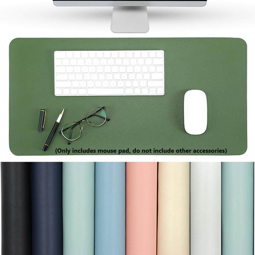Soft Modern Desktop Laptop Large Leather Double-sided Mouse Pad Table Mat