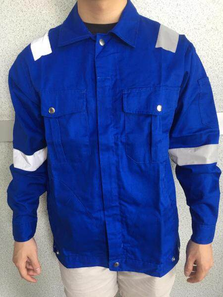 QUEST Safety Reflective Workwear Jacket Royal Blue