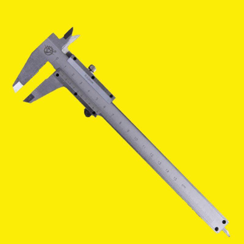 Stainless steel vernier caliper 0-150mm household small oil standard caliper high precision and durable