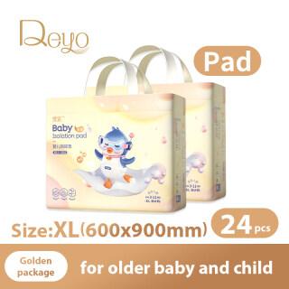 Đệm chống thấm Deyo Miếng đệm lót Tấm lót thay tã dùng một lần cho bé Tấm lót ban đêm cho bé Gói Đôi Vàng thumbnail