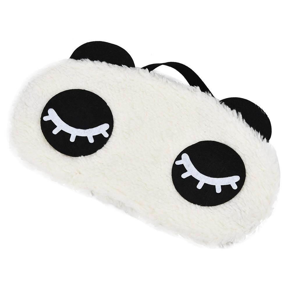 2019 1 PC Tidur Bayangan Masker Mata Penutup Mata Tidur Siang Penutup Mata Wajah Putih Panda