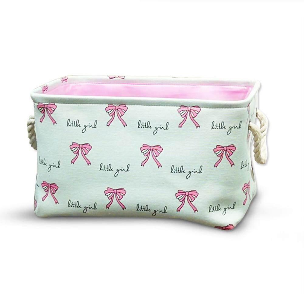 Aolvo Foldable Storage Bin Basket for Makeup, Book, Baby Toy Laundry Storage Bins ,40*28*24cm,
