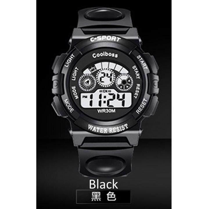 Waterproof Student Children Boy/Girl Kids Digital LED Alarm Date Electronic Quality Sports Wrist Watch (Big) Malaysia