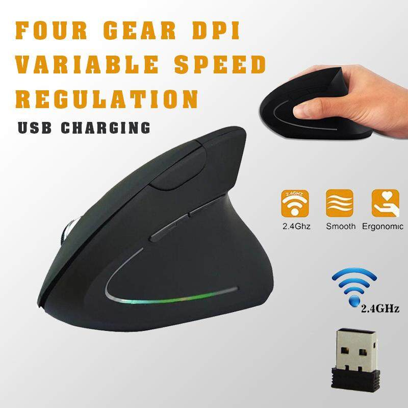 Wireless Vertical Mouse, Ergonomic Vertical Computer Mouse, 2.4G High Precision Optical Mice 800/1200/1600 DPI and 6 Buttons for PC Laptop Desktop Mac USB Charging (Right Handed Ergonomic Mouse) Malaysia