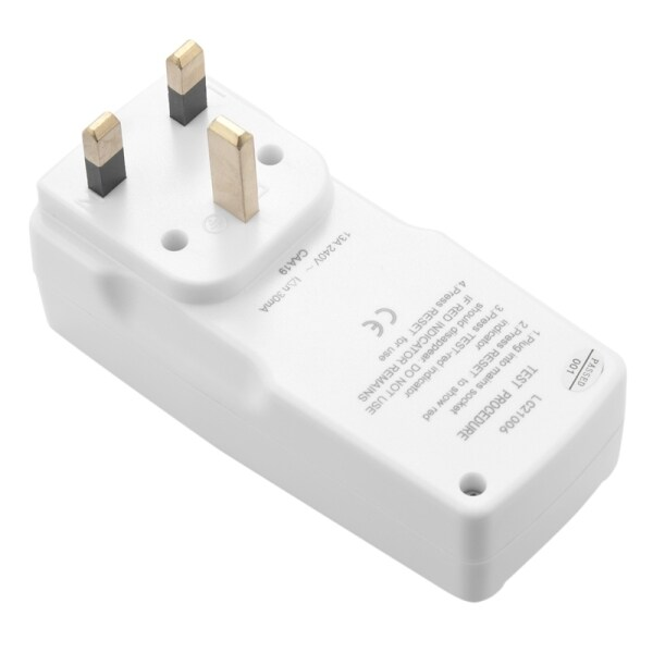 Uk Plug 13A Gfci Leakage Protection Plug Rcd Socket Home Circuit Breaker Cutout Power Trip Switch- Uk Plug