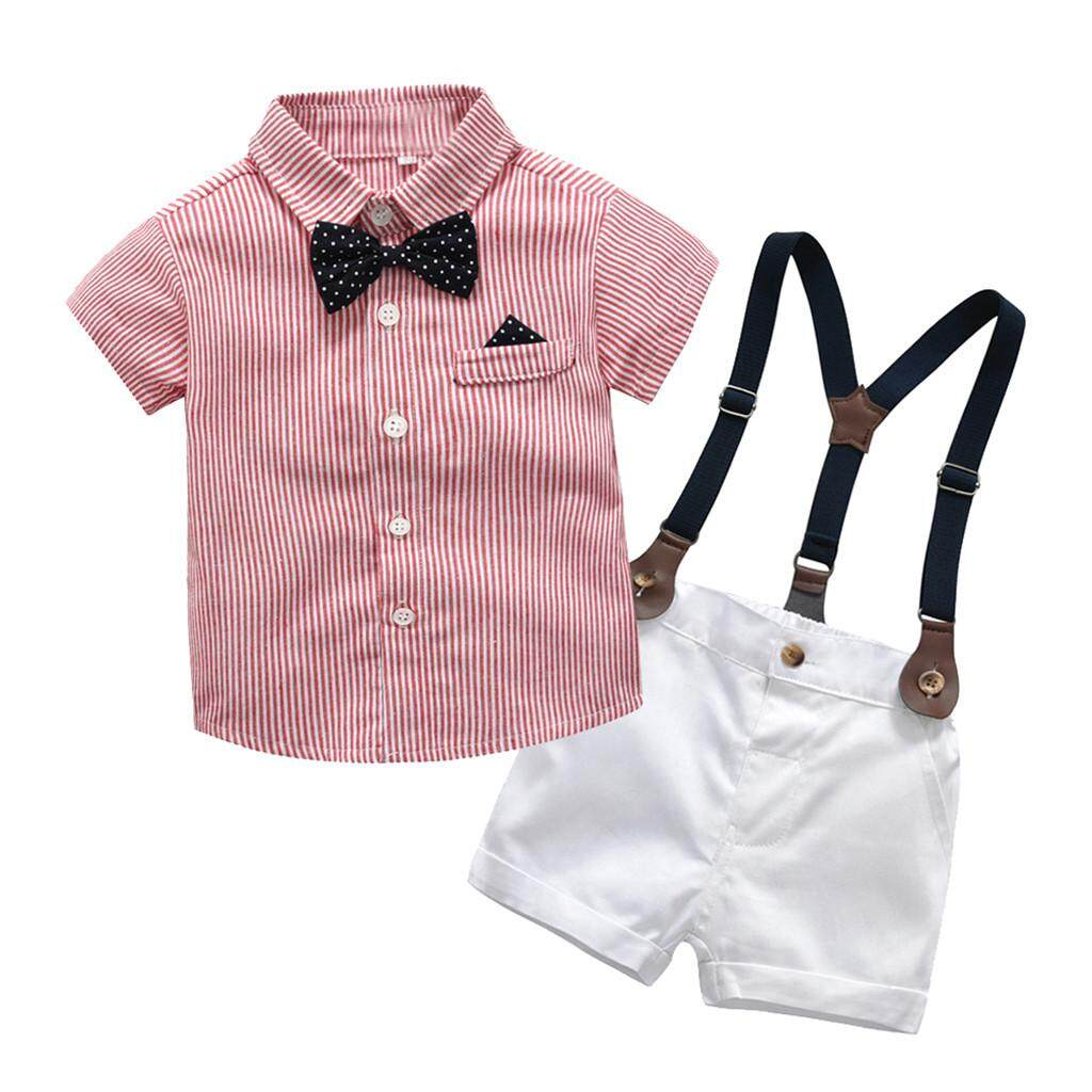 86b85f7ce24e ViviMall Infant Baby Boys Gentleman Bow Tie T-Shirt Tops+Shorts Overalls Clothes  Outfits