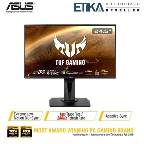 Asus TUF GAMING VG259QM 24.5 IPS FHD 280Hz OC ELMB HDR10 G-Sync Compatible Gaming Monitor (2x HDMI 2.0+DP+Audio Out) Malaysia