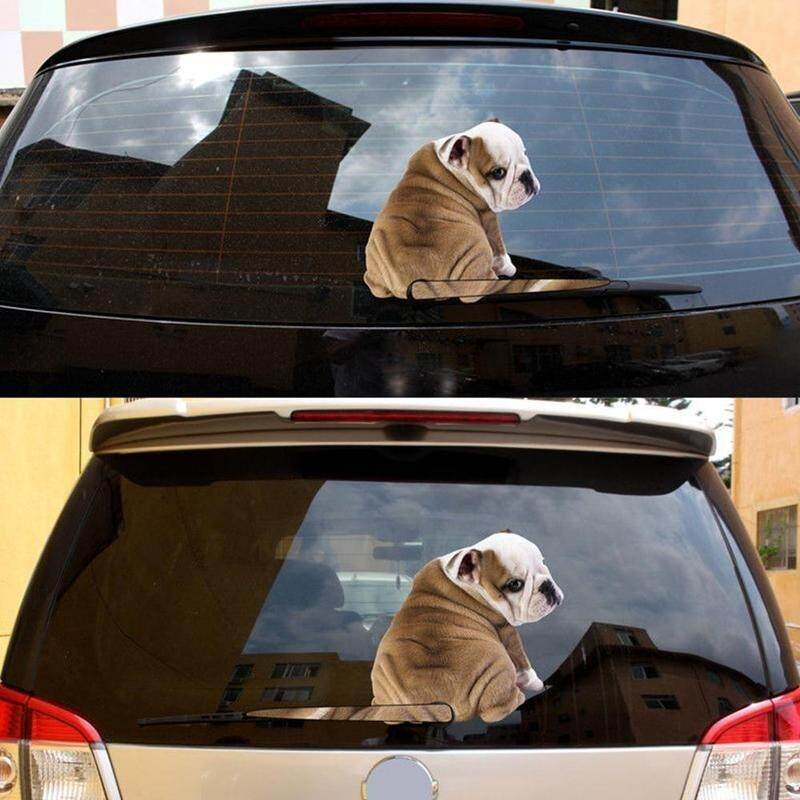 1pcs Cartoon Funny Moving Tail Puppy Dog Car Stickers