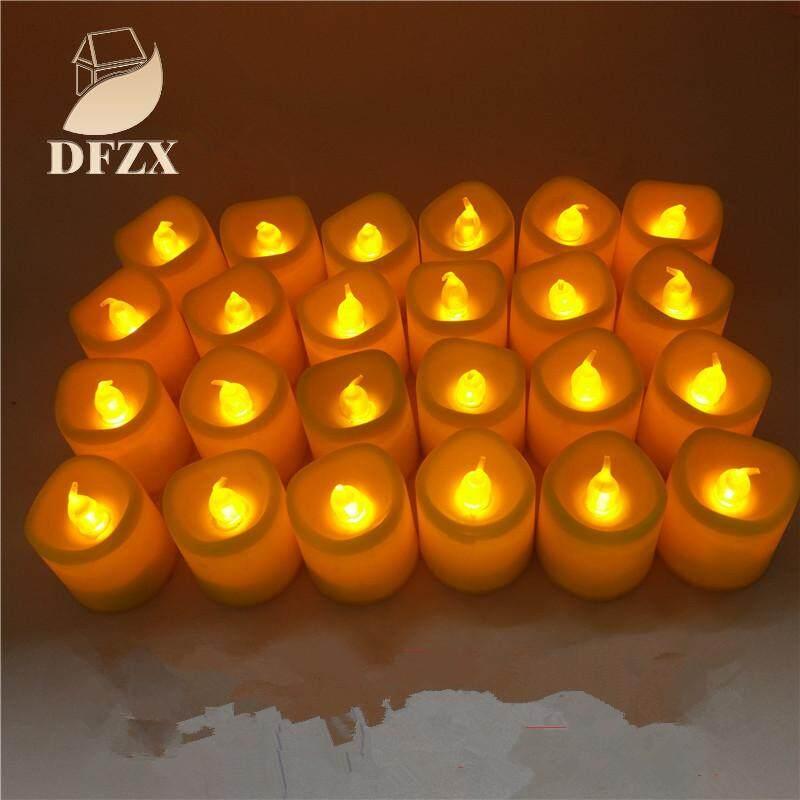 Dfzx Perdagangan 24Pcs 7 Warna Berubah LED Lilin Elektrik untuk Proposal Pesta