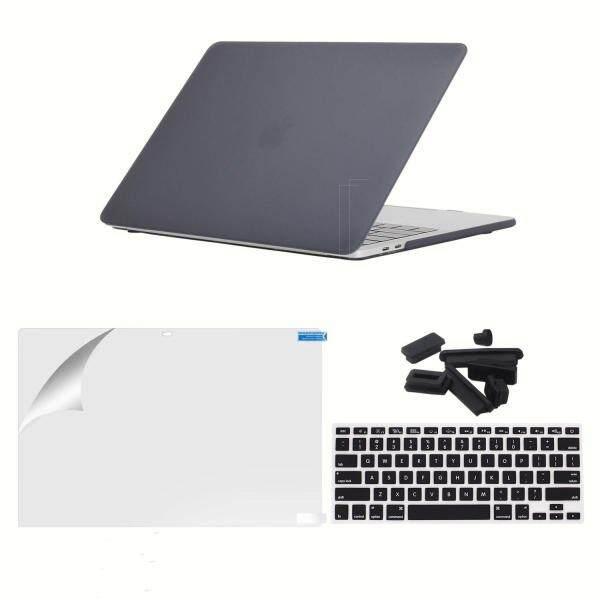 Bảng giá Eoqo MacBook Pro 15 Ốp Lưng, ốp Lưng nhựa Cứng Nhám Giành Vỏ Bao Da với Tấm Bảo Vệ Màn Hình cho Mới Nhất Macbook Pro15 Inch với Thanh Cảm Ứng và Touch ID cho A1707 2017 & 2016 (Màu Đen) Phong Vũ