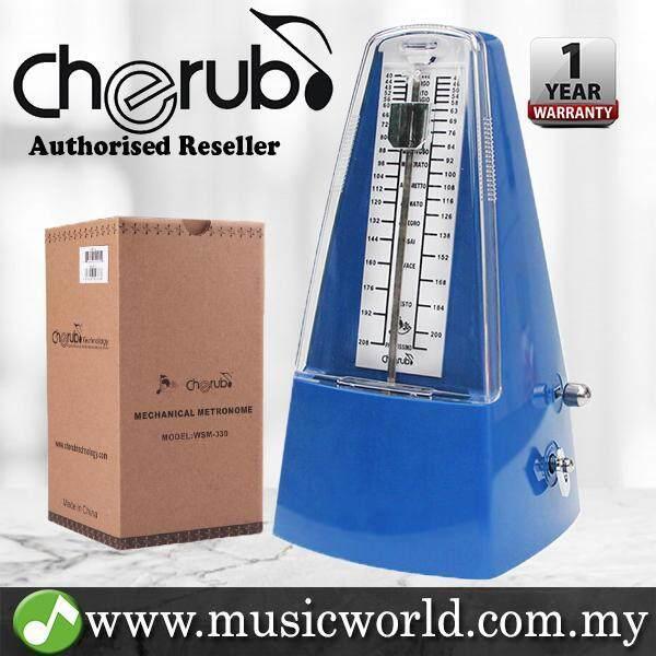 Cherub WSM-330 Analog Metronome Mechanical Timer Rhythm Blue For Piano Violin Guitar Drum (WSM330) Malaysia