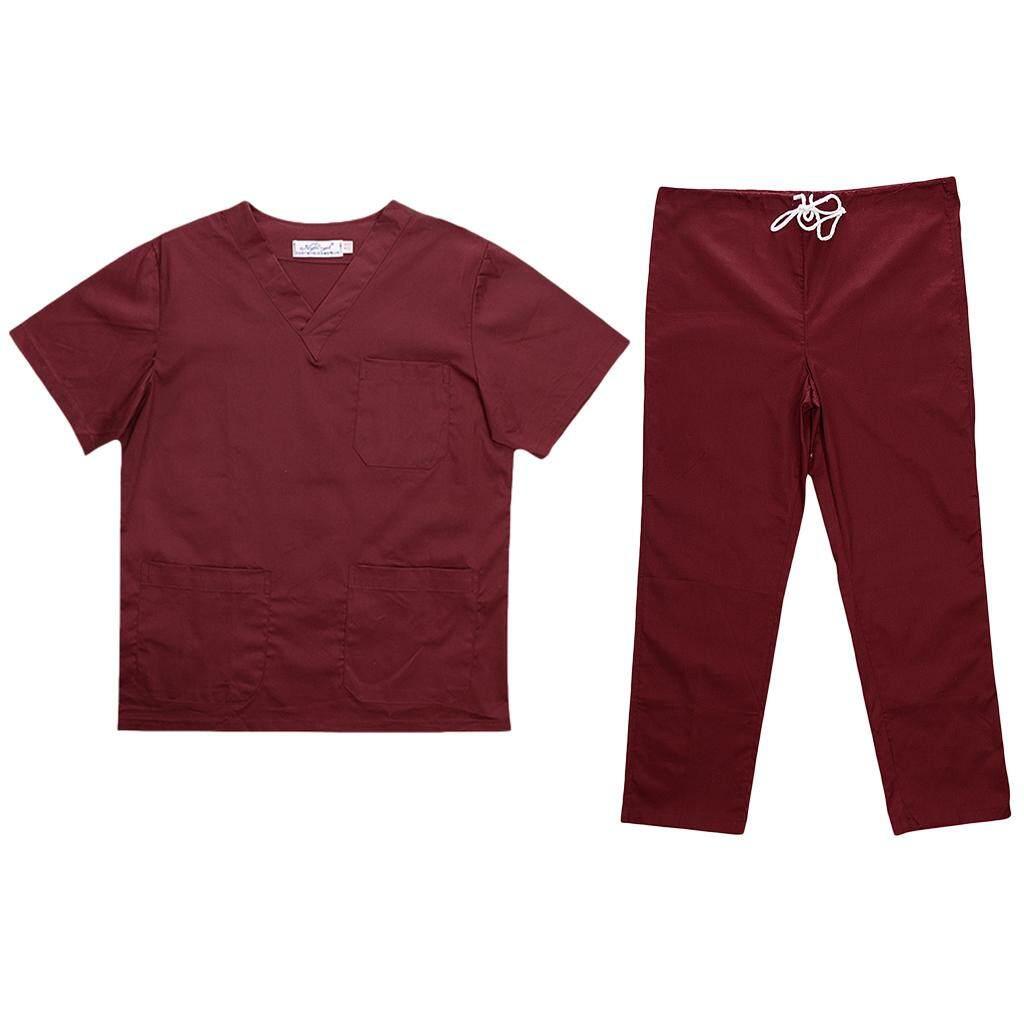 Kloware Free Shipping Unisex Medical Spa Nursing Clinic Scrub Sets Hospital Uniform