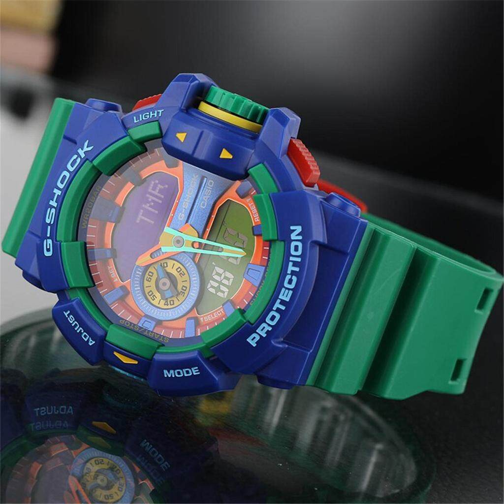 การใช้งาน  อุทัยธานี 【 STOCK】Original _ Casio_G-Shock GA400 Duo W/เวลา 200M กันน้ำกันกระแทกและกันน้ำโลกนาฬิกากีฬาไฟแอลอีดีอัตโนมัติ Wist นาฬิกากีฬาสำหรับ MenGA-400-2APR