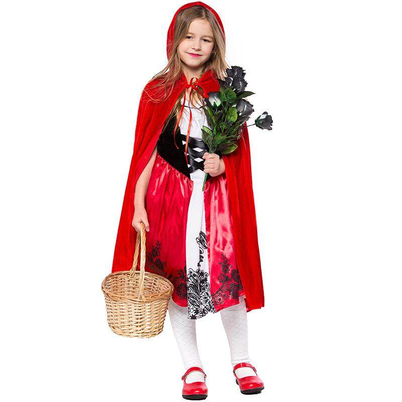2019 new Halloween costume children's parent-child Little Red Riding Hood costume Fairytale dress with cloak costume