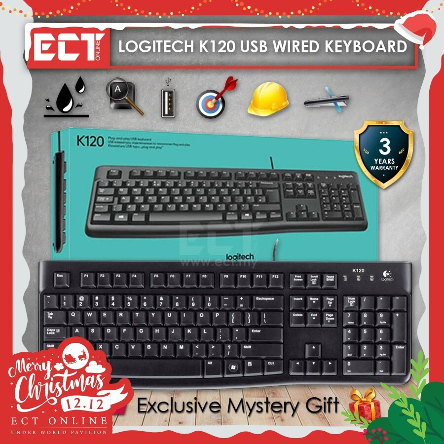 Logitech K120 Keyboard with Low Profile Keys and Standard Layout Malaysia