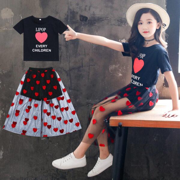 Giá bán PearlPiggy Bộ Váy Mới Mùa Hè 2021 Cho Bé Gái, Phong Cách Phương Tây Mùa Hè Phiên Bản Hàn Quốc Của Cô Gái Lớn