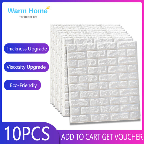 10PCS 70x77cm PE Foam Waterproof 3D Wall Stickers Home Decor Wallpaper DIY Wall Decor Brick Living Room Kids Bedroom Decorative Sticker