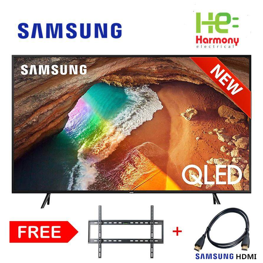 2019 New Model: Samsung 55 Q60 4k Smart Qled Tv Qa55q60rakxxm + Free Bracket + Hdmi By Harmony Electrical.