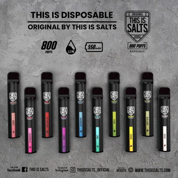 [Ready Stock] This is Salt disposable original 800 Puff Malaysia