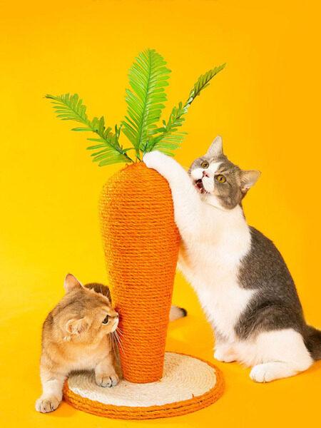 ChaoXIn Đồ Cào Cho Mèo Tháp Cây Mèo, Cây Mèo Cào Móng Cây Cà Rốt Dễ Thương Cho Mèo Leo Núi Móng Vuốt Mèo Vui Nhộn Pet Nguồn Cung Cấp