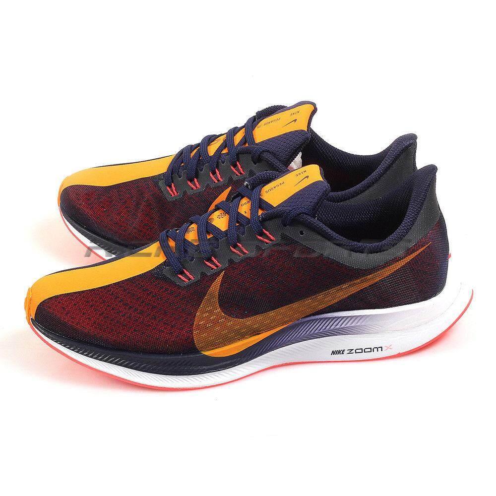 78659aa789cfc Nike Zoom Pegasus 35 Turbo Running Shoes Blackened Blue Orange Peel  AJ4114-486