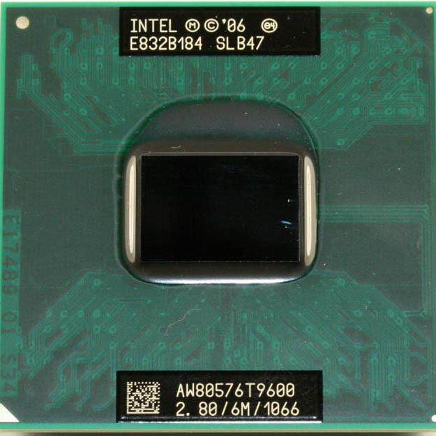 Mobile Intel Core 2 Duo T9600 2.8GHz processor socket PPGA478 1066 FSB for budget laptop - 1060 GTX 1050
