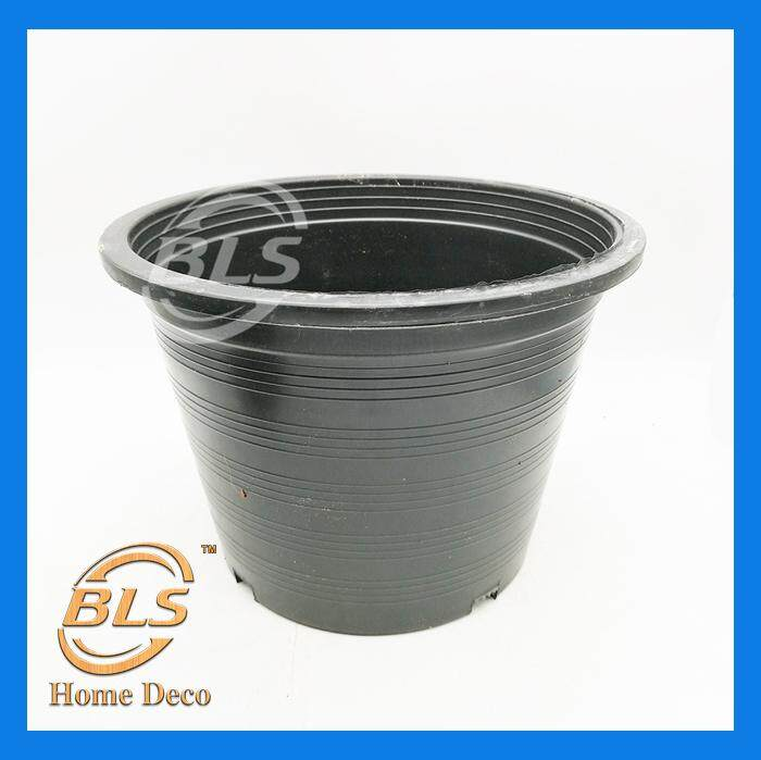 BLACK COLOR FLOWER PLANT POT OUTDOOR GARDENING PLANT POT