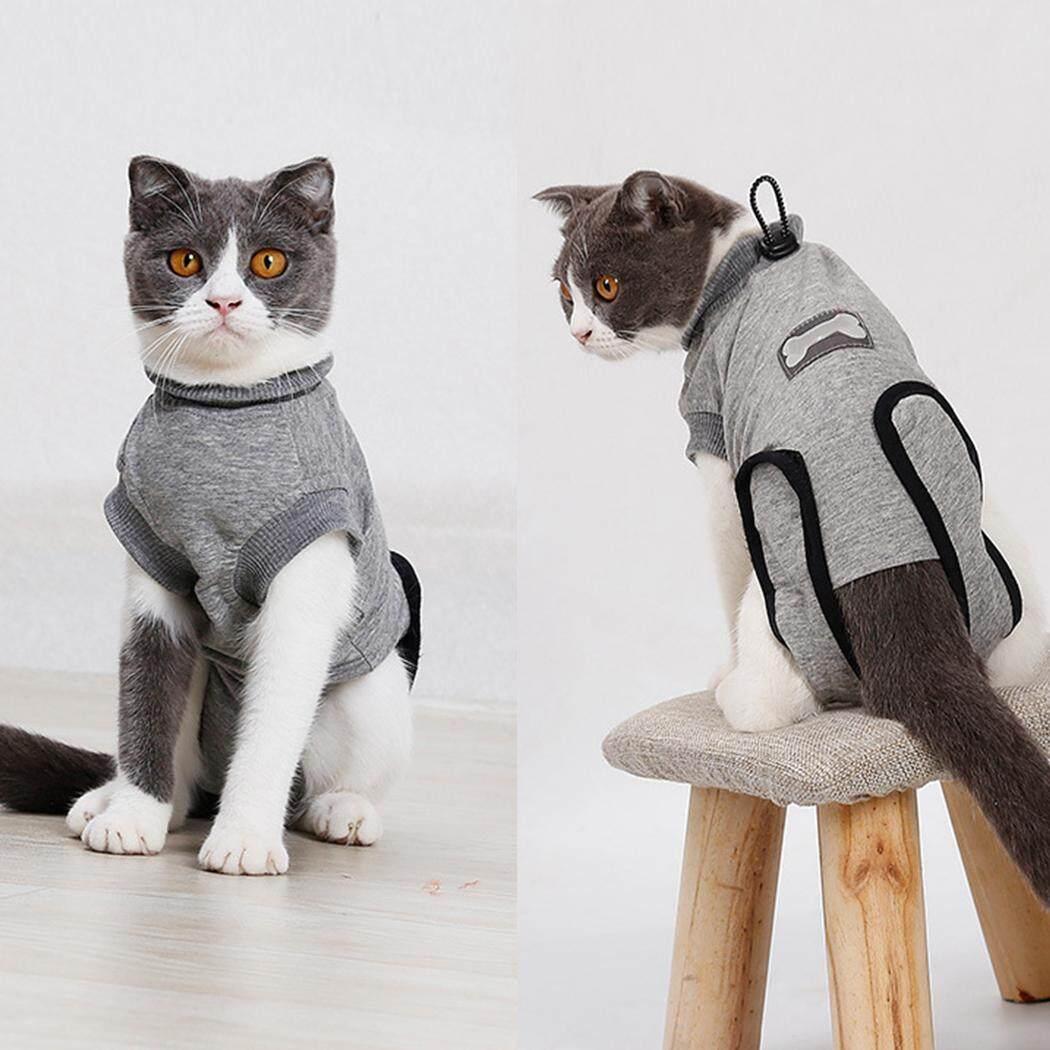 Phục hồi Bộ Đồ Thun Cotton Mềm Mại Bảo Vệ Thú Cưng Phù Hợp Với Quần Áo Thú Cưng cho Mèo, S - 4