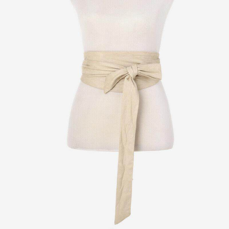 Japanese Retro Bow Obi Belt Wide Strap Sash Tie Coat Dress Corset Wiastband UK