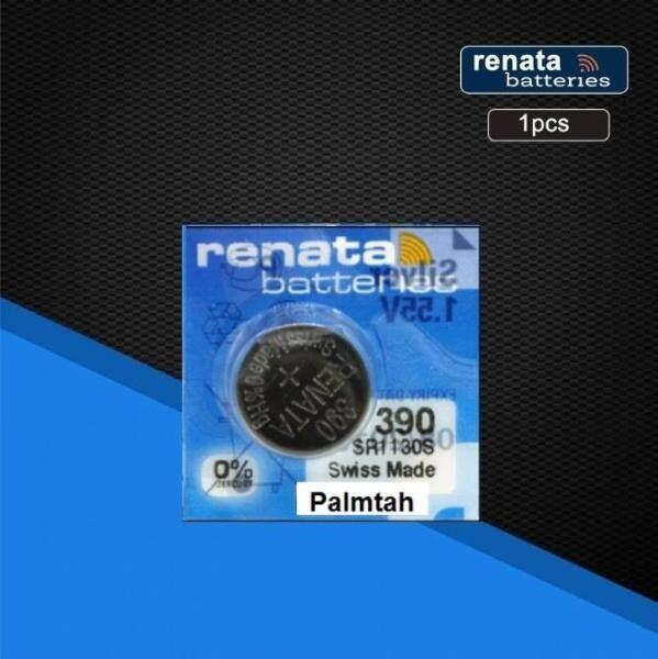 Renata Silver Oxide Watch Battery 390 SR1130SW - 1 Piece