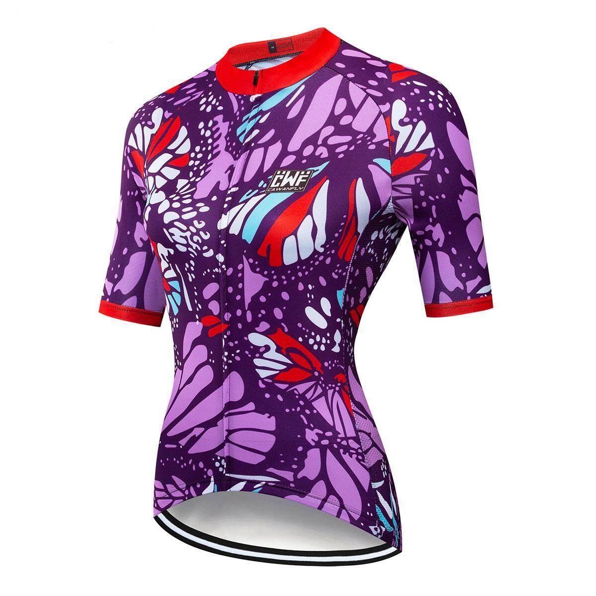 Cycling Jersey Women Bike Top Shirt Summer Short Sleeve MTB Cycling Clothing  (Red)SS16 227f2252a