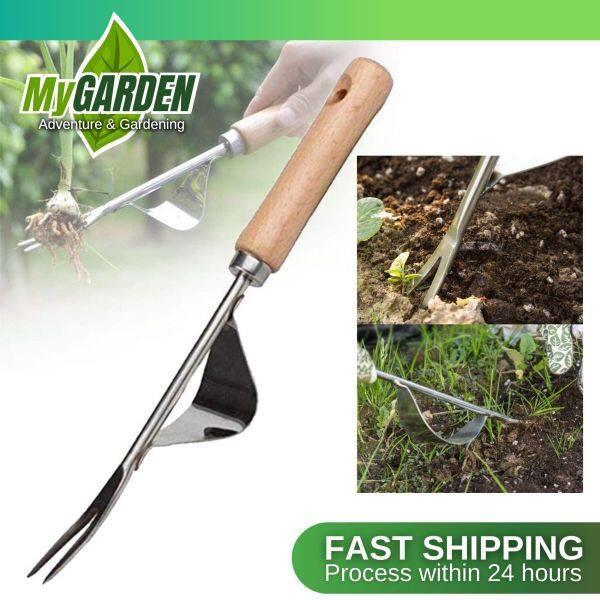 Garden Weeder Hand Tool Grass Weeding Puller Weed Digger with Ergonomic Handle Garden Lawn Farmland Transplant Tools