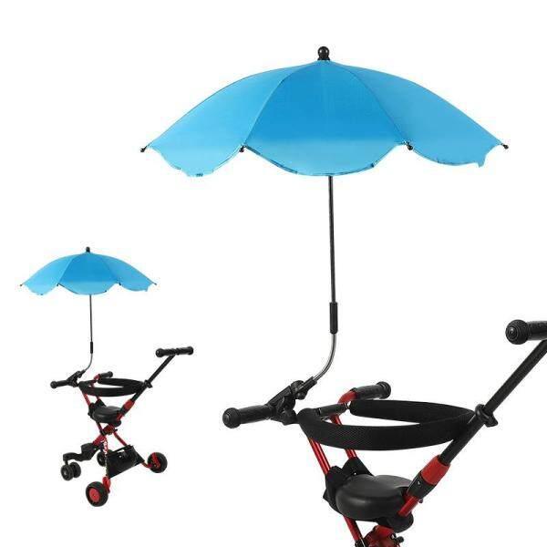INSULAR Baby Stroller Children Sunscreen Carriage Car Sunshade Umbrella Baby Sunshade Umbrella UV Proof Universal Umbrella Three Wheel Cart Umbrella for Kids Singapore