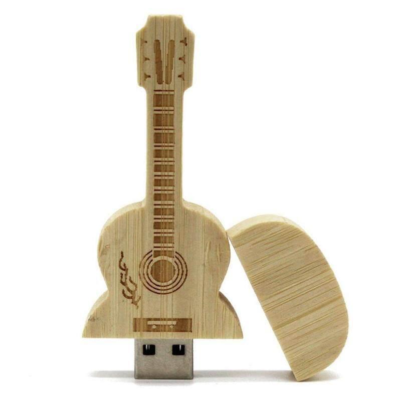 Bán Chạy nhất Đàn Guitar Phong Cách Gỗ Phong Tốc Độ Cao USB 2.0 Ổ Đĩa Flash Đĩa U