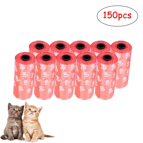 Dụng Cụ Chăm Sóc Thú Cưng 150PSC/Bộ Túi Đựng Phân In Hình Thú Cưng Túi Vệ Sinh Phân Chó Mèo Túi Đựng Phân Thải Poo Refill Core Nhặt Túi Làm Sạch Túi Rác Làm Sạch