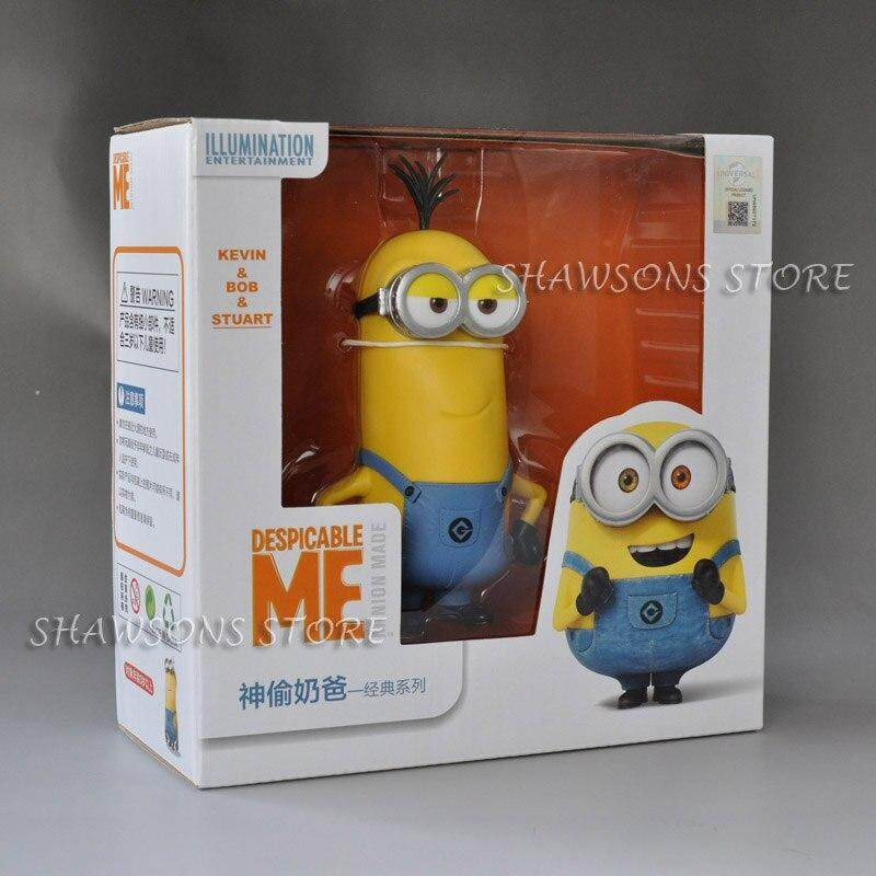 Movie Characters Toys 4  Minions Bob Stuart Kevin In Jeans Action Figure Doll