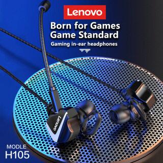 Lenovo H105 Chơi Game Có Dây Tai Nghe Trong Tai Với Micro Chưa Cắm Âm Thanh Nổi Máy Tính Để Bàn Và Máy Tính Giảm Tiếng Ồn Chơi Game Tai Nghe Cho Điện Thoại Thông Minh thumbnail
