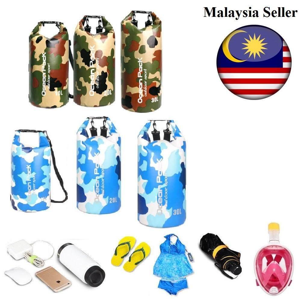 ✨【thicker】✨ Ocean Pack 10l 20l 30l Waterproof Shoulder Ocean Dry Fishing Bag By Maxliving.