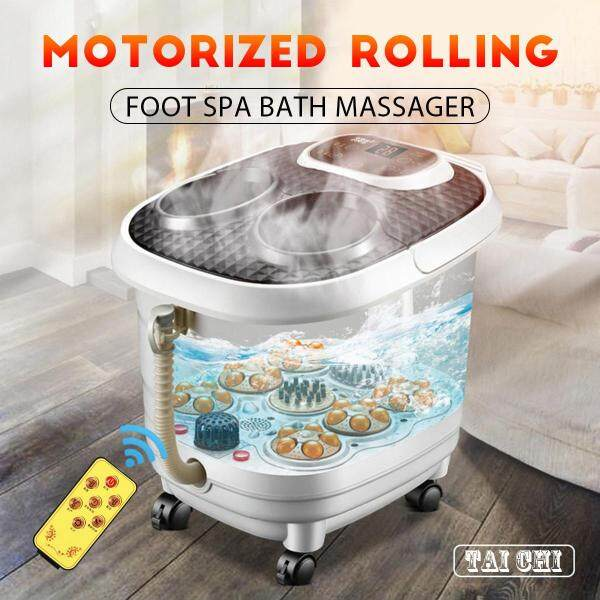Buy Hot ️ Dream Best Foot Spa Bath Massager Therapy Motorized Rolling Heat Soak Vibration Roller Singapore