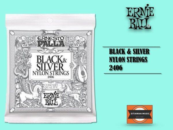 Ernie Ball 2406 Classical Guitar Strings Ernesto Palla Nylon Black & Silver (28-42/EB2406) Malaysia