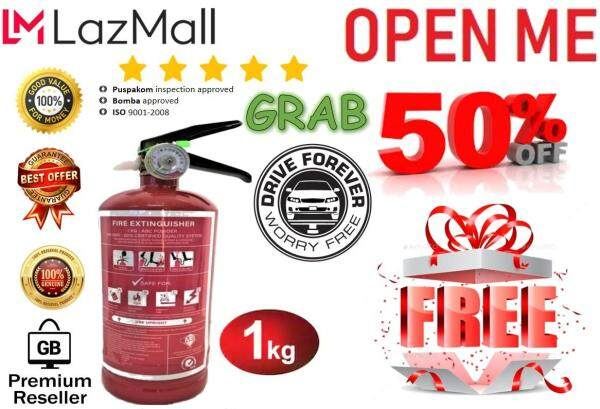 GB-Store 100%[Original] FIRE Extinguisher 1kg, Fire Stop for GRAB car, FREE GIFT