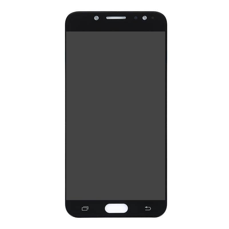 Super AMOLED untuk Samsung Galaxy C7 2017 C710F/DS C8 C7100 J7 + Layar LCD Layar Sentuh Pergantian Digital Display
