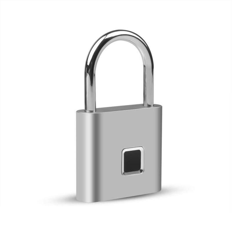 Di Động Thông Minh Vân Tay Điện Sinh Trắc Học Khóa Cửa USB Sạc IP65 Chống Nước Khóa Cửa Nhà Túi Hành Lý Ốp Lưng Chống trộm Móc Khóa Khóa