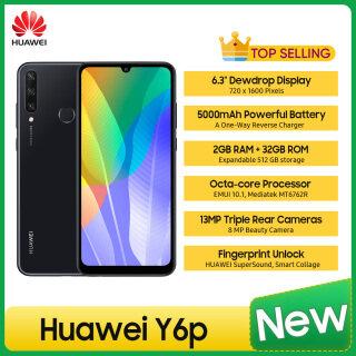 (Ưu Đãi Hấp Dẫn) điện Thoại Thông Minh Huawei Y6p 6.3 4G EMUI 10.1 Mediatek MT6762R Octa-core 13MP Triple + 8 MP 5000MAh & Sạc Đảo Ngược Một Chiều SIM Kép Mở Khóa Vân Tay Điện Thoại Di Động thumbnail
