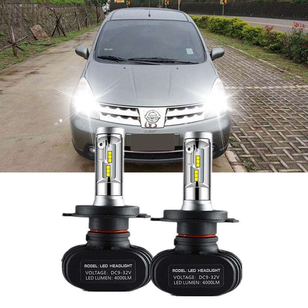 Untuk Nissan Grand Livina (Generasi Pertama) 2006-2013 (Lampu Kepala) H4 Lampu LED Lampu Mobil Otomatis Lampu Utama Cahaya Putih 6000 K