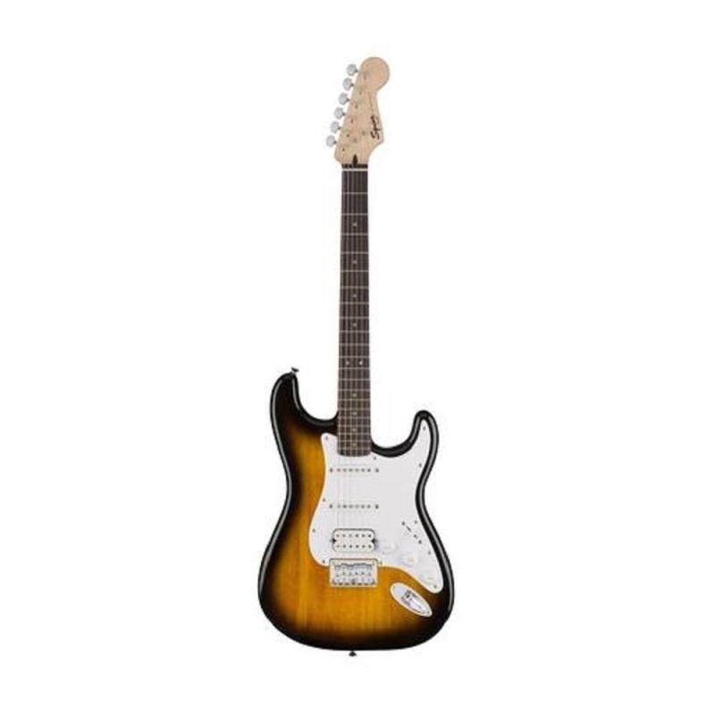 Fender Squier Bullet Stratocaster HSS Hardtail 6-String Electric Guitar, Indian Laurel Fingerboard (Brown Sunburst) Malaysia