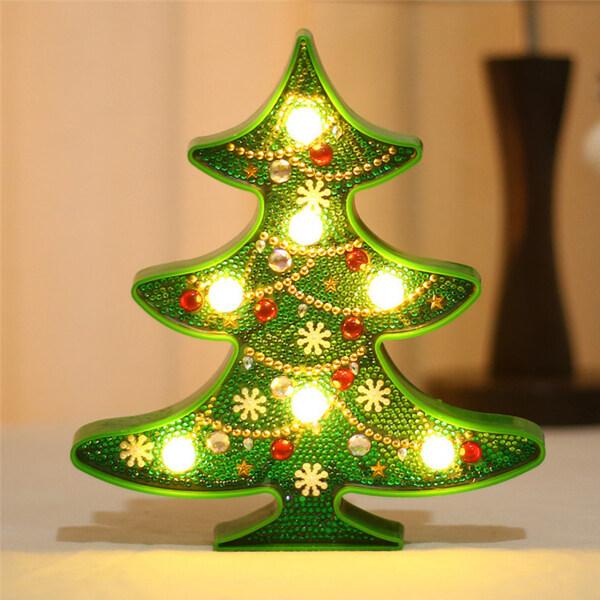 Bảng giá Đèn Tranh Kim Cương Giáng Sinh Có Đèn LED Handmade Tự Làm Tác Phẩm Nghệ Thuật Bộ Dụng Cụ Vẽ Pha Lê Khoan Toàn Bộ Đèn Ngủ Cạnh Giường Kèm Dụng Cụ, Nghệ Thuật Thủ Công Để Trang Trí Nhà Cửa Quà Giáng Sinh (Cây Giáng Sinh/Người