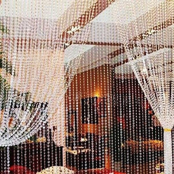 wusi® 30 Meters Transparent Plastic Resin Beads Curtain Window Door Wedding Backdrop