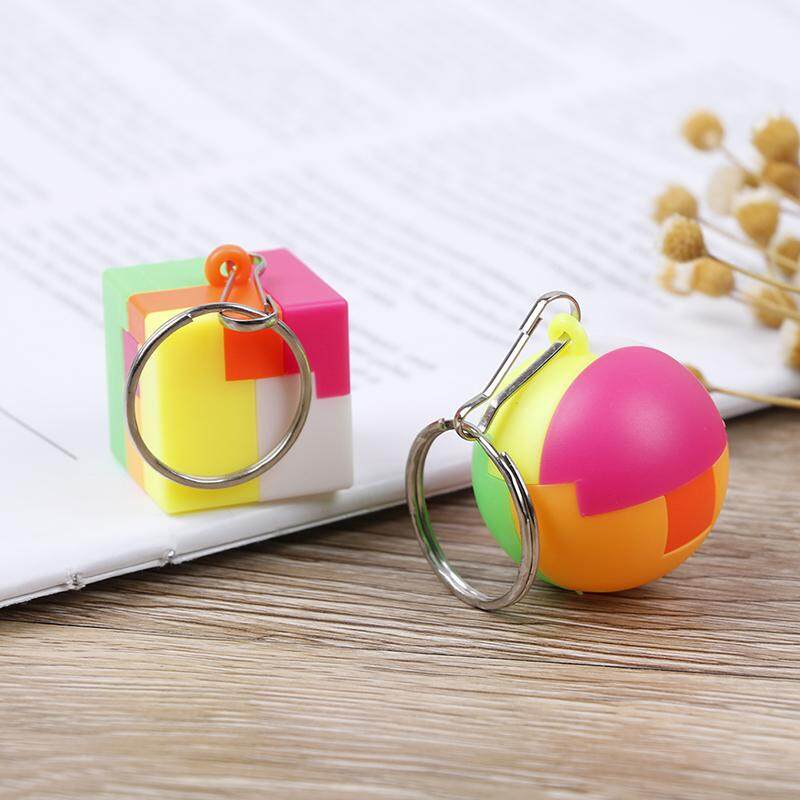 Children DIY assembly ball toy cube funny jigsaw puzzle keychain