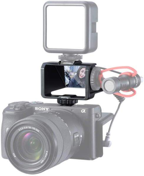 Ulanzi UURig R031 Camera Flip Screen Mirror with Cold Shoe Microphone Extension Bracket for Sony A6000 A6300 A6500 A7III Series Malaysia